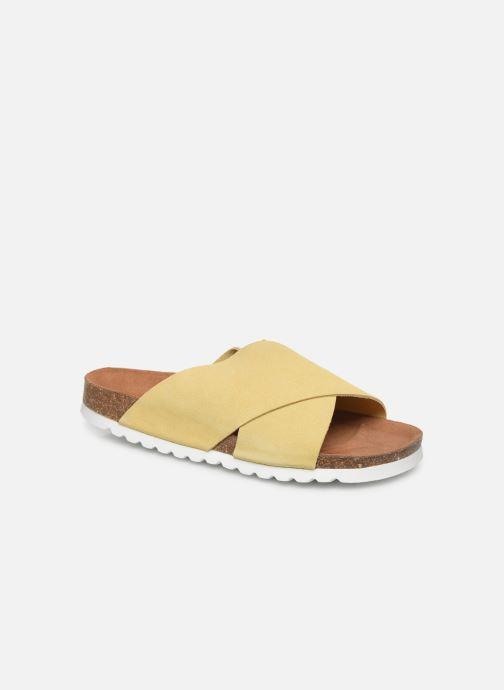 Zuecos Vero Moda Vmholly Leather Sandal Amarillo vista de detalle / par