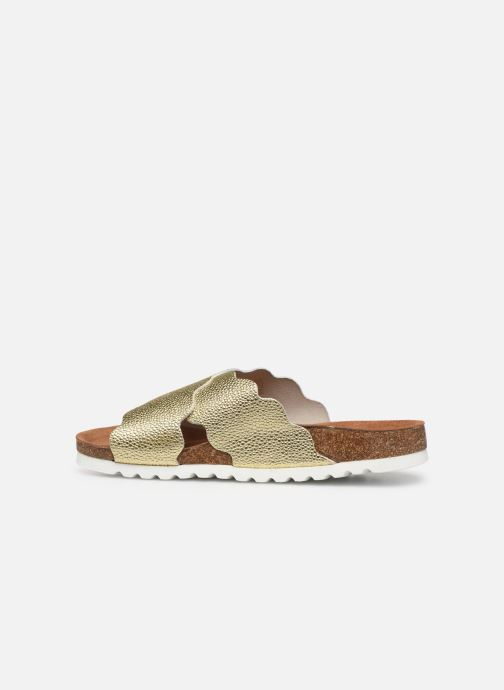 Zuecos Vero Moda Vmviola Leather Sandal Oro y bronce vista de frente