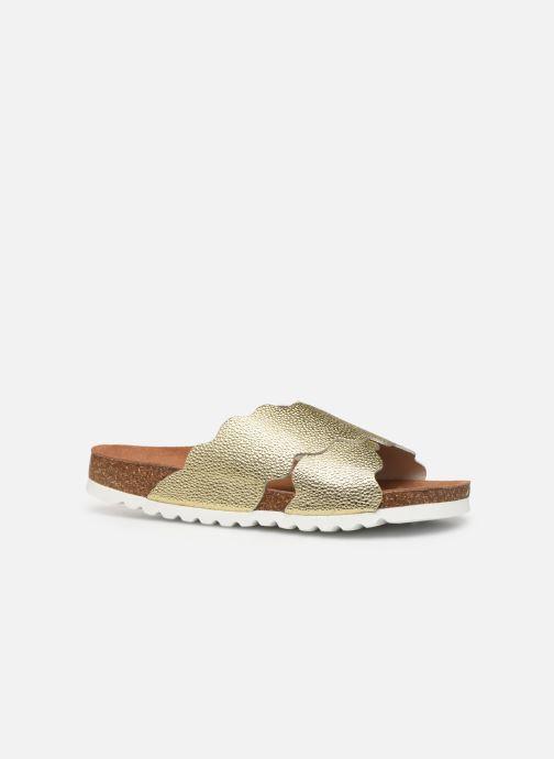 Zuecos Vero Moda Vmviola Leather Sandal Oro y bronce vistra trasera