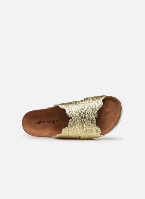 Zuecos Vero Moda Vmviola Leather Sandal Oro y bronce vista lateral izquierda