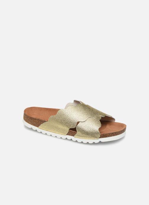 Zuecos Vero Moda Vmviola Leather Sandal Oro y bronce vista de detalle / par