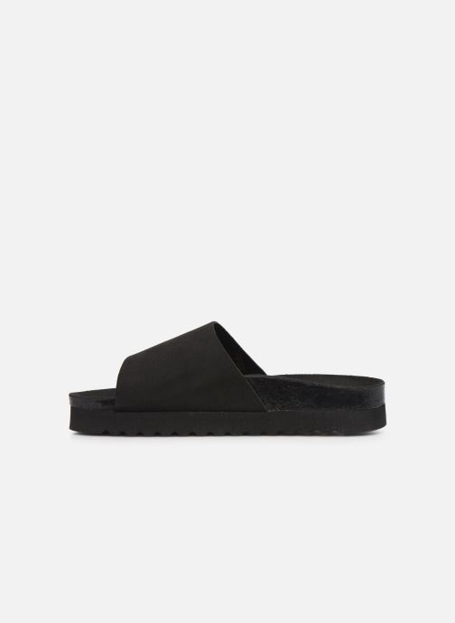 Zoccoli Vero Moda Vmmolly Leather Sandal Nero immagine frontale