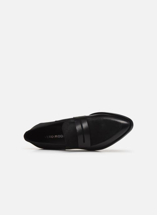 Loafers Vero Moda Vmtrine Leather Loafer Black view from the left