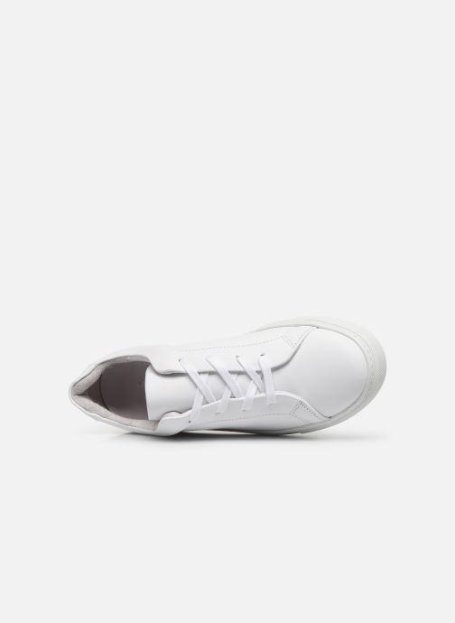 Deportivas Vero Moda Vmana Leather Sneaker Wide Blanco vista lateral izquierda