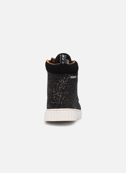 Trainers Pepe jeans Taylor Glitter Black view from the right