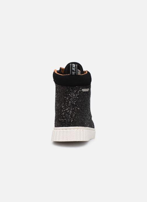 Sneakers Pepe jeans Taylor Glitter Nero immagine destra