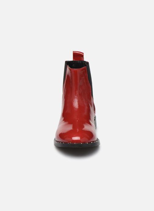 Bottines et boots Pepe jeans Mika Chelsea Pattent Rouge vue portées chaussures