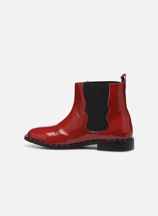 Bottines et boots Pepe jeans Mika Chelsea Pattent Rouge vue face