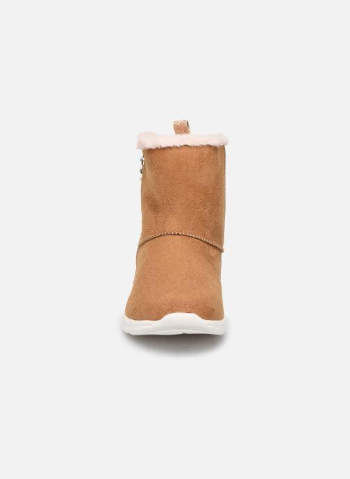 Bottes Pepe jeans Amanda Boot Zip Marron vue portées chaussures