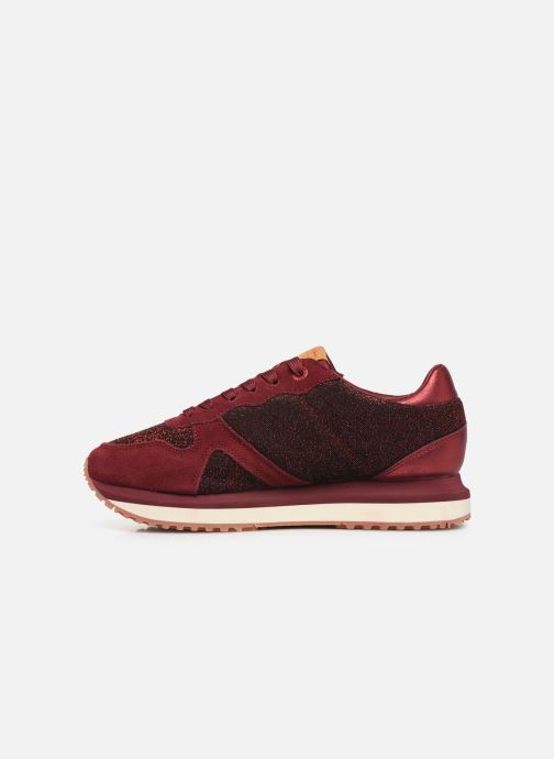 Trainers Pepe jeans Zion Lux Burgundy front view