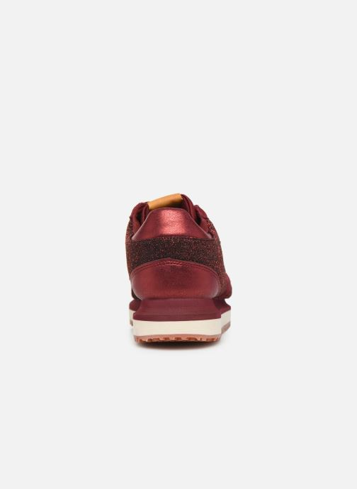 Trainers Pepe jeans Zion Lux Burgundy view from the right