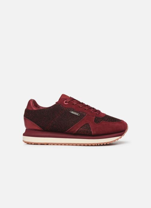 Trainers Pepe jeans Zion Lux Burgundy back view