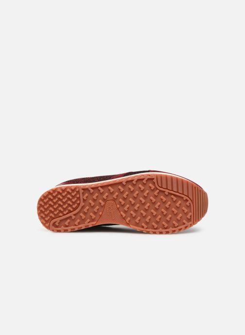 Baskets Pepe jeans Zion Lux Bordeaux vue haut