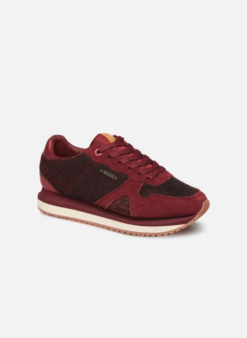 Trainers Pepe jeans Zion Lux Burgundy detailed view/ Pair view
