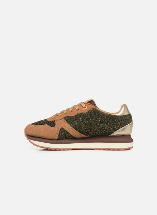 Trainers Pepe jeans Zion Lux Brown front view