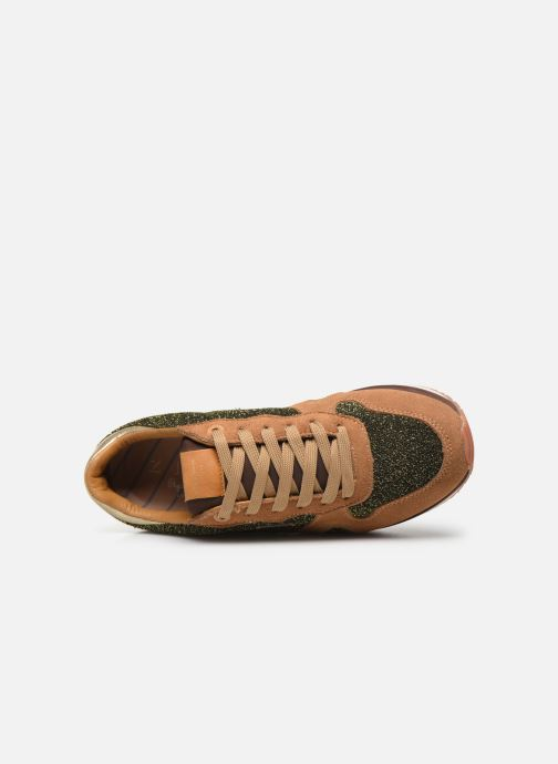 Trainers Pepe jeans Zion Lux Brown view from the left