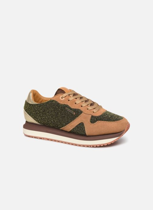 Trainers Pepe jeans Zion Lux Brown detailed view/ Pair view