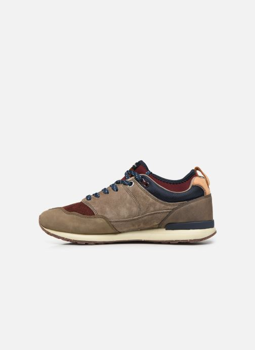 Baskets Pepe jeans Btn Treck Lth Pack Marron vue face