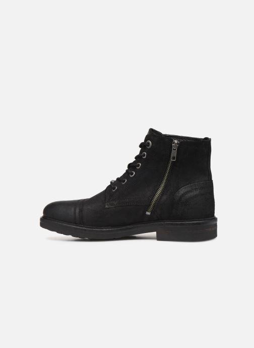 Boots en enkellaarsjes Pepe jeans Hubert Suede Zwart voorkant
