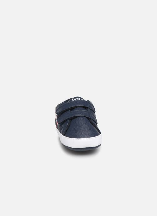 Chaussons Polo Ralph Lauren Quigley Ez New Bleu vue portées chaussures