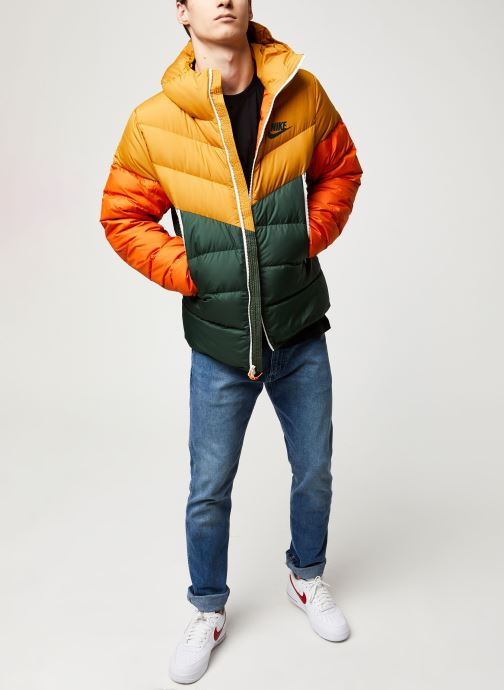 Vêtements Nike M Nsw Dwn Fill Wr Jkt Hd Jaune vue bas / vue portée sac