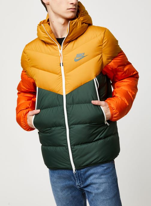 Vêtements Nike M Nsw Dwn Fill Wr Jkt Hd Jaune vue droite