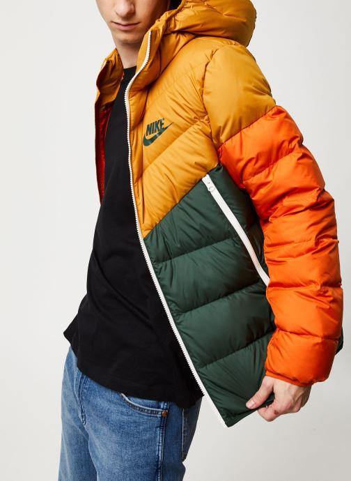 Vêtements Nike M Nsw Dwn Fill Wr Jkt Hd Jaune vue détail/paire