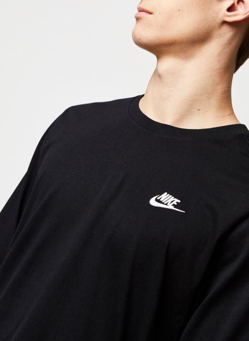 Vêtements Nike M Nsw Club Tee - Ls Noir vue face