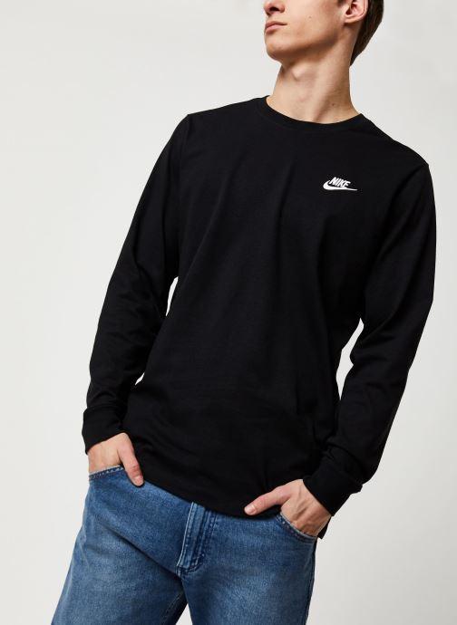 Vêtements Nike M Nsw Club Tee - Ls Noir vue droite