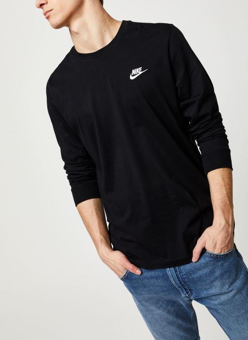 Vêtements Nike M Nsw Club Tee - Ls Noir vue détail/paire