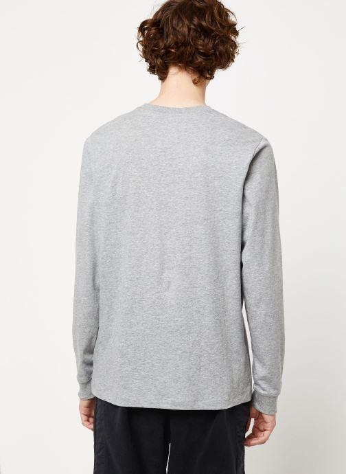 Nike Pull - M Nsw Club Tee - Ls (Gris) - Vêtements chez Sarenza (411296)