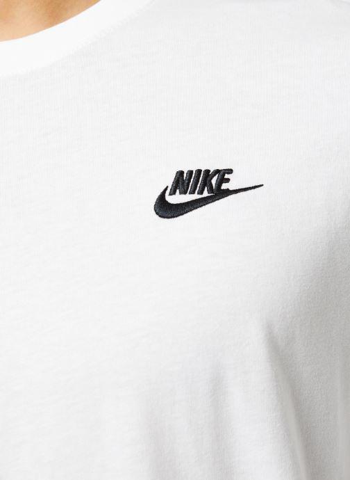 Vêtements Nike M Nsw Club Tee - Ls Blanc vue face