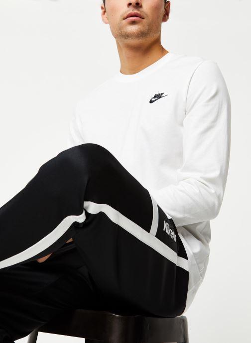 Vêtements Nike M Nsw Club Tee - Ls Blanc vue droite