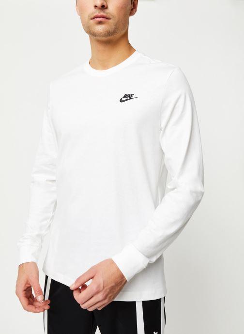 Vêtements Nike M Nsw Club Tee - Ls Blanc vue détail/paire