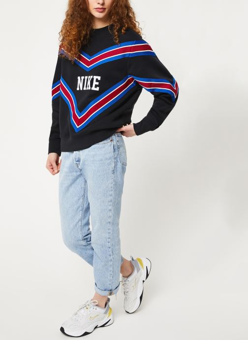 Vêtements Nike W Nsw Nsp Crew Flc Noir vue bas / vue portée sac