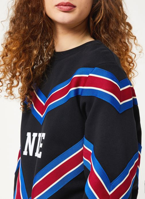Vêtements Nike W Nsw Nsp Crew Flc Noir vue face