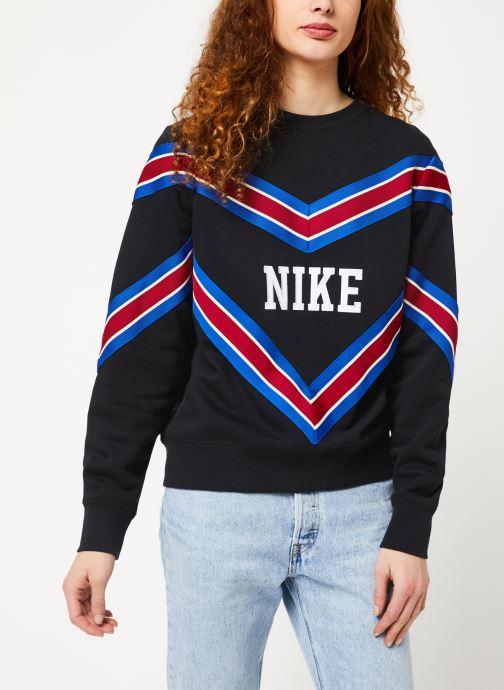 Vêtements Nike W Nsw Nsp Crew Flc Noir vue droite