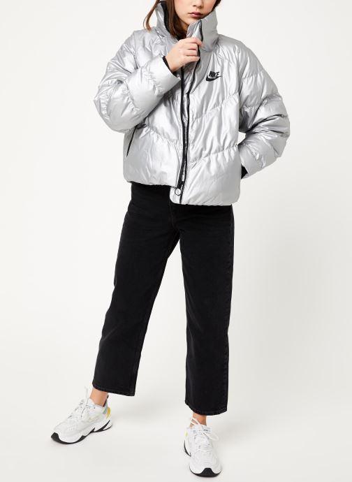Vêtements Nike W Nsw Syn Fill Jkt Stmt Shine Argent vue bas / vue portée sac