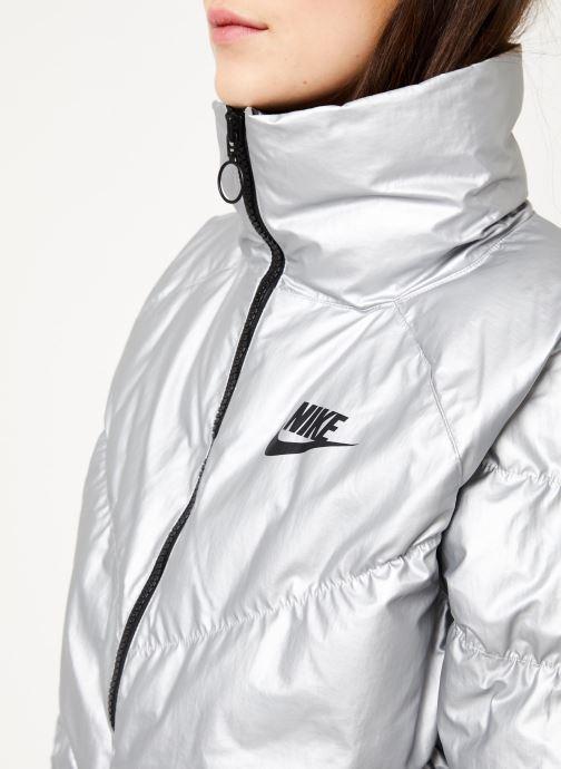 Vêtements Nike W Nsw Syn Fill Jkt Stmt Shine Argent vue face