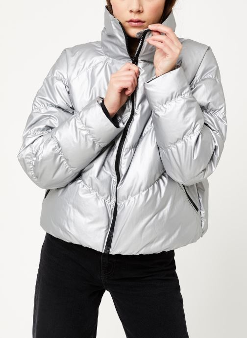 Vêtements Nike W Nsw Syn Fill Jkt Stmt Shine Argent vue droite