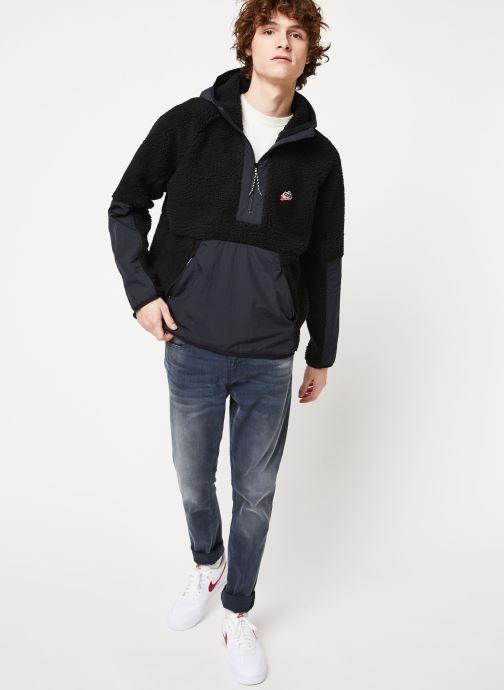 Vêtements Nike M Nsw He Hoodie Hz Winter Noir vue bas / vue portée sac