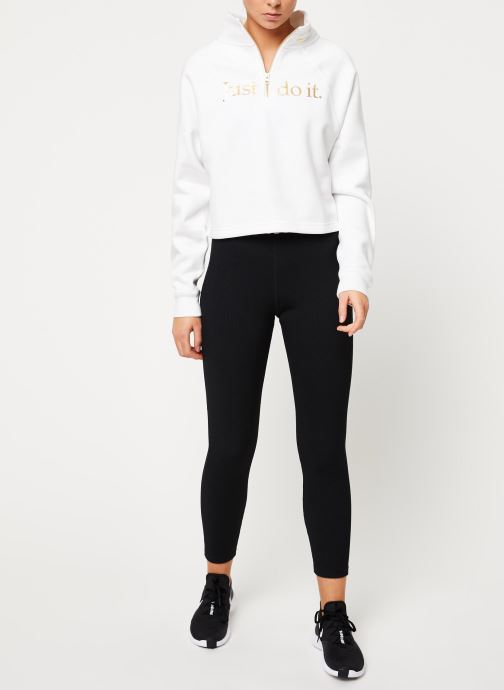 Nike Sweatshirt - W Nsw Funnel 1/2 Zip Bb Shine (Blanc) - Vêtements (411335)