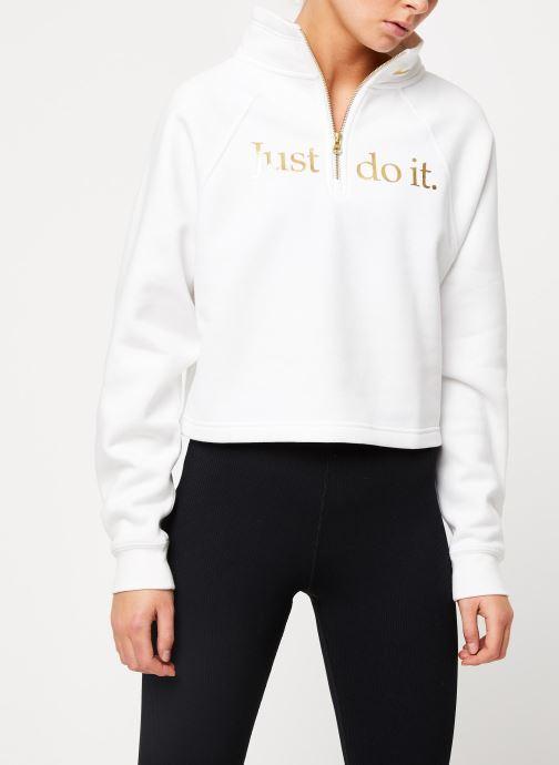 Nike Funnel 12 Zip BB Shine Sweatshirt WhiteWhiteMetallic Golden