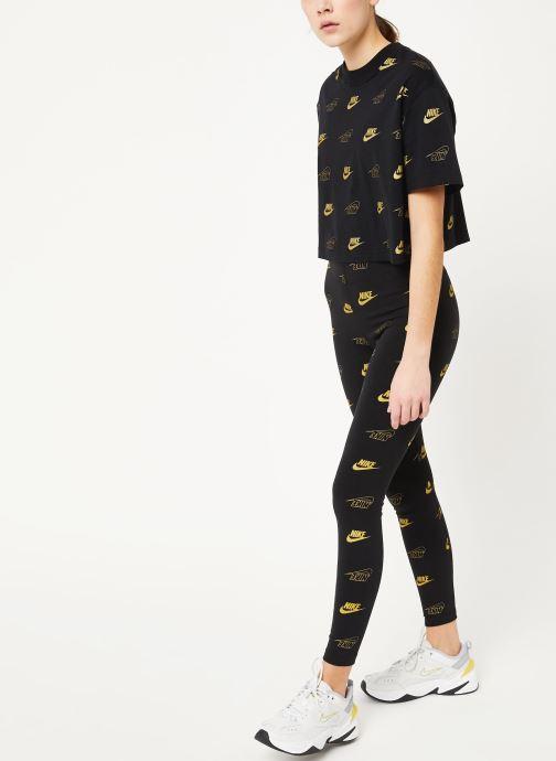 Nike T-shirt - W Nsw Top Ss Crop Bff Shine (Noir) - Vêtements chez Sarenza (411338) 2FRWN