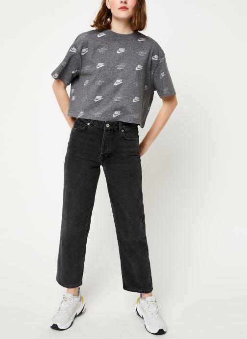 Nike T-shirt - W Nsw Top Ss Crop Bff Shine (Gris) - Vêtements (411339)