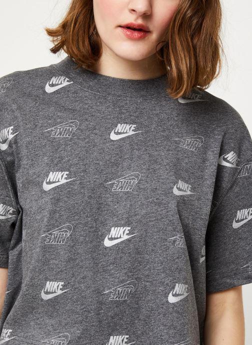 Tøj Nike W Nsw Top Ss Crop Bff Shine Grå se forfra