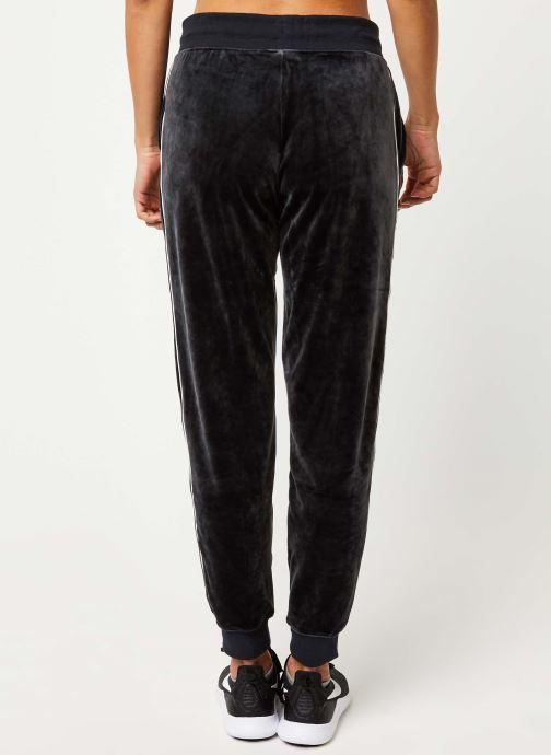 Vêtements Nike W Nsw Hrtg Pant Plush Noir vue portées chaussures