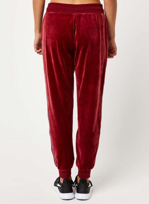 Vêtements Nike W Nsw Hrtg Pant Plush Rouge vue portées chaussures