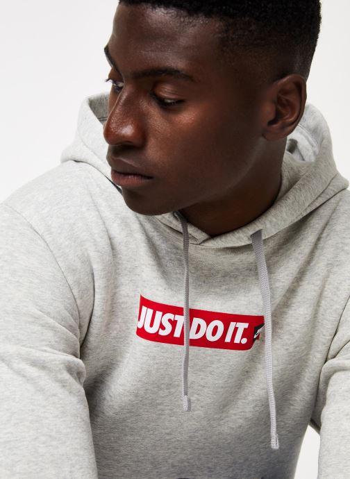 Tøj Nike M Nsw Jdi Hoodie Po Bb Bstr Grå se forfra