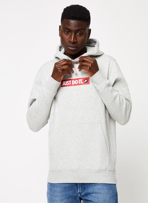 Tøj Nike M Nsw Jdi Hoodie Po Bb Bstr Grå detaljeret billede af skoene